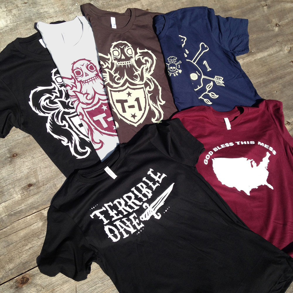b29401e15601 T-1 Winter 2016 T-shirts: perfect for all the times you don't feel like  being naked. Available now in the T-1 Online Store and available soon  through our ...